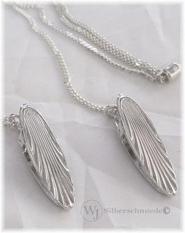 Serviettenkette Silber 925/ooo  Clips mit Wellen-Motiv