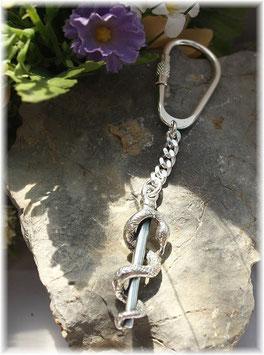 Äskulapstab Schlüsselanhänger Silber 925