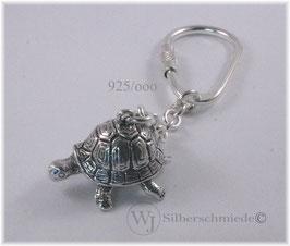Schildkröte schwer, Schlüsselanhänger Silber 925