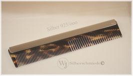Kamm mit Sterling-Silber-Schiene, Gravur möglich