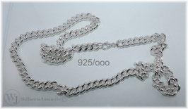 Rundpanzerkette, Halskette massiv Silber 925/ooo