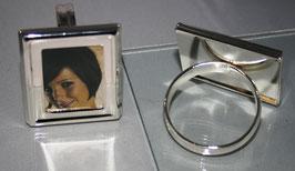 1 Paar Serviettenringe versilbert, für Fotos  max.  4 x 3,5 cm