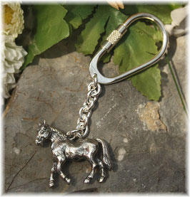 Pferd Pony Schlüsselanhänger Sterling-Silber 925