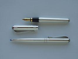 MINI Füller und Kugelschreiber im Set, Silber 925, kpl. incl. 2 x Gravuren bis 10 Zeichen