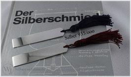 Lesezeichen / Buchzeichen  klein, Silber 935
