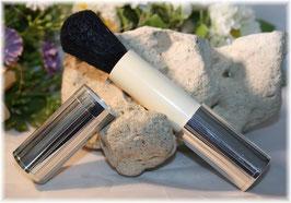 Kosmetikpinsel, Hülse Silber 925, Faden/Streifen-Decor