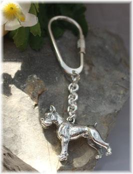 Boxer  Schlüsselanhänger Sterling-Silber 925