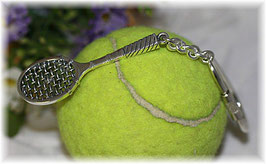 Tennisschläger, Schlüsselanhänger        Silber 925
