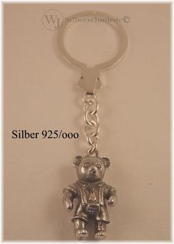 Teddy - Bär Schlüsselanhänger Sterling-Silber 925