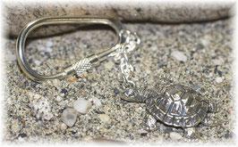 Schildkröte Schlüsselanhänger Sterling-Silber 925