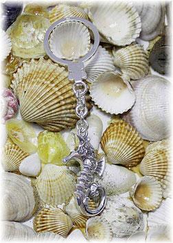 Seepferdchen Schlüsselanhänger Silber 925
