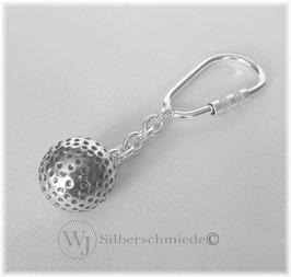 kleiner Golfball Sterlingsilber Schlüsselanhänger 925