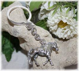 Pferd Schlüsselanhänger Sterling-Silber 925