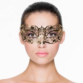 Goldfarbene Maske im venezianischen Stil