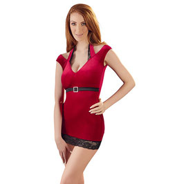 Samt-Minikleid in Rot