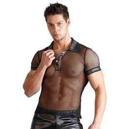Wetlook Shirt schwarz