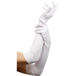 Lange Handschuhe in Weiß