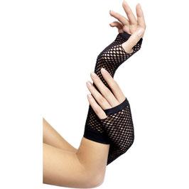 Netzhandschuhe in schwarz