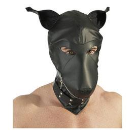 Hundemaske Lederimitat