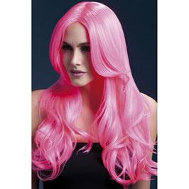 Perücke Pink mit Locken