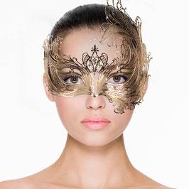 Goldfarbene venezianische Maske