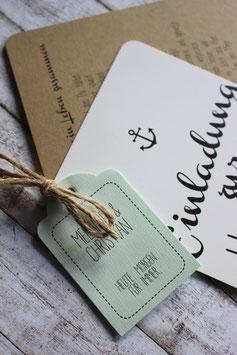 """Einladungen """"maritim meets vintage"""""""