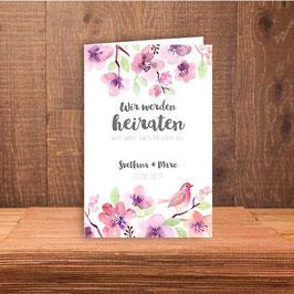 """Einladung """"zarte Blumen"""""""