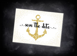 "Save the Date ""black+gold"""