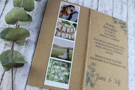 "Einladungs-Set ""Eukalyptus"""