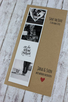 """Save the Date """"Fotostreifen - we are getting married"""""""