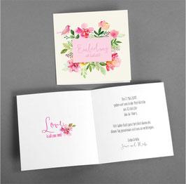 """Einladung """"Blütenpracht"""""""