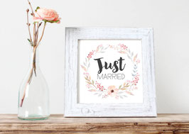 "Print ""just married"" Blumenkranz"