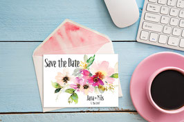 "Save the Date ""Aquarellbouquet"""