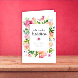 "Einladung ""Aquarell Flowers"""