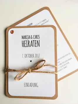 """Einladungen """"Fächer"""""""