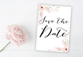"""Save the Date """"Pastellblüten"""""""