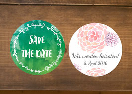 "Save the Date ""individuelles Design"" runde Karte"