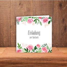 """Einladung """"pink Flowers"""""""