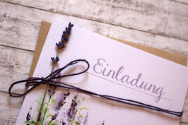 "Einladung ""Lavendel"""