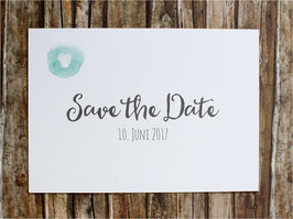 "Save the Date ""mint Fingerprint"""