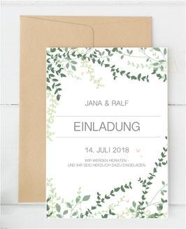 "Einladung ""simply green"""