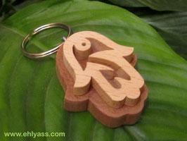 Porte-clés Khamsa / Main de Fatma (2 bois)