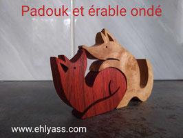 Sculpture 2 Renards amoureux