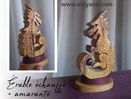 Sculpture Bébé Dragon + Obsidienne