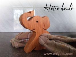 Rond de serviette Éléphant assis trompe levée (épais)