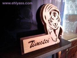 Plaque de porte Tigre