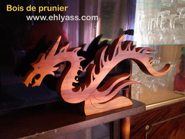 Sculpture Dragon volant ou nageant sans ailes