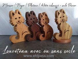 Sculpture Louveteau en divers bois