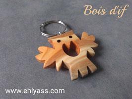 Porte-clé Hibou (plusieurs bois et versions)