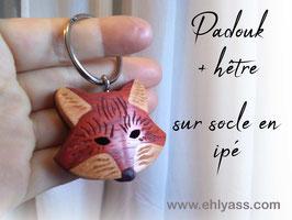 Porte-clés Renard (3 bois)